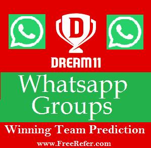 Dream11 Whatsapp Group Link with IPL 2021 [Winning Team Prediction]