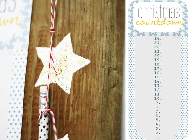 Free printable Christmas Countdown!
