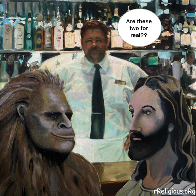 Funny Jesus Bigfoot Caption Competition Picture