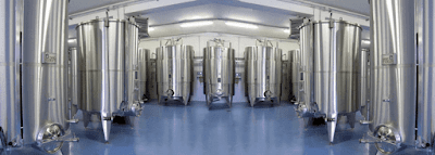 Tanque fermentação graos cereais