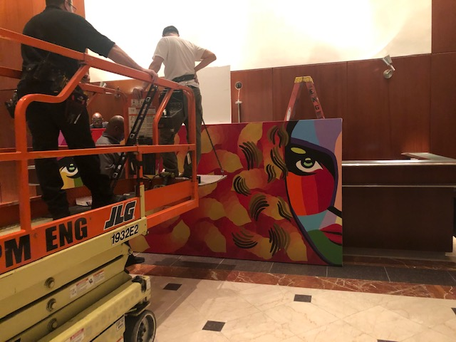 Doing Art Installation for Vladimir Nazarov