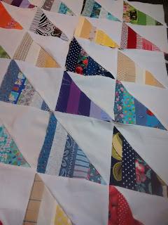 ProsperityStuff Scrap Triangle Quilt Blocks