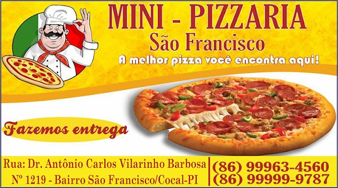 Minipizzaria São Francisco fecha as portas e atende a clientela apenas por delivery em Cocal-PI