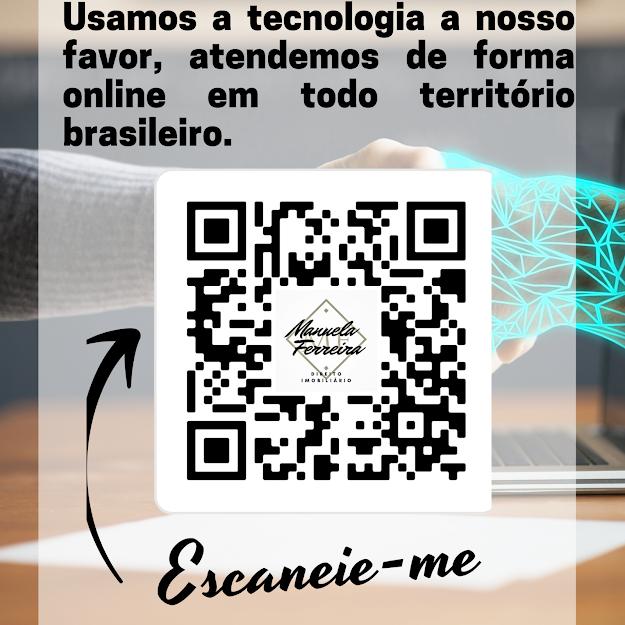 Qr code com dados de contato da advogada Manuela Ferreira Direito Imobiliário