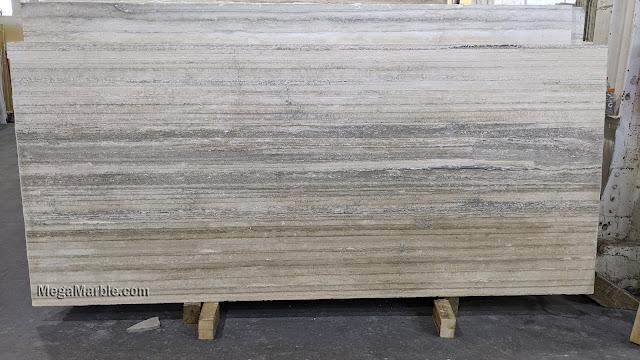 Gray Travertine slab A