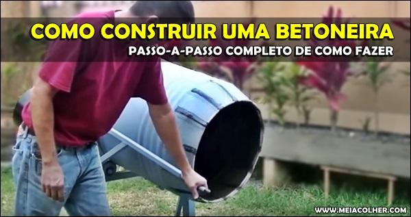 construção de uma betoneira caseira