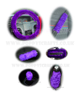 Large purple car accessories set