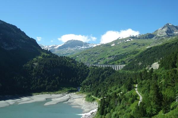 savoie maurienne vanoise aussois barrage plan amont lac