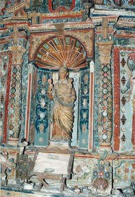 Santa Bárbara en su capilla de El Valle, Belmonte de Miranda
