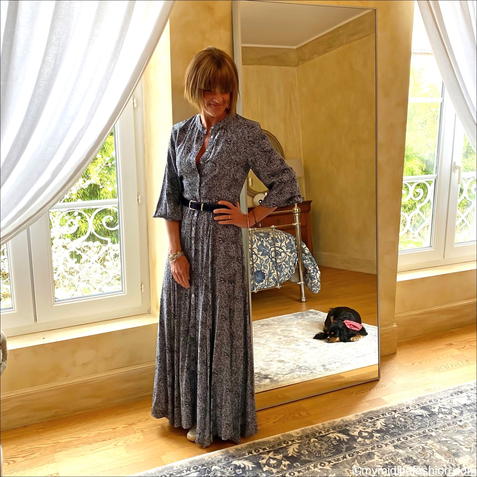 my midlife fashion, Somerset by Alice temperley leopard print maxi dress, j crew pony skin belt, golden goose superstar low top leather trainers