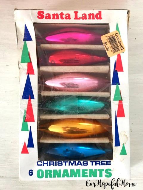 teardrop shaped glass Christmas ornaments