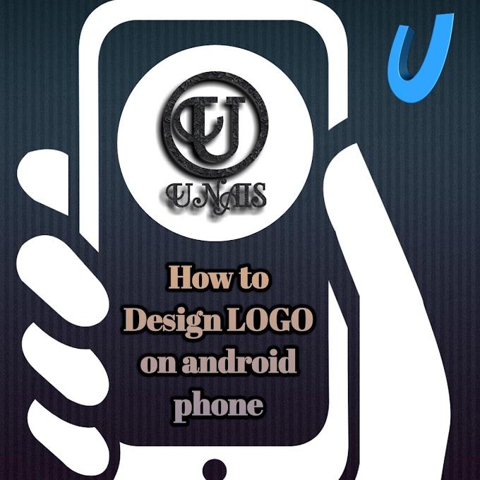 how to design a logo in your smartphone  | अपने मोबाइल फोन से लोगो केसे बनाएं।