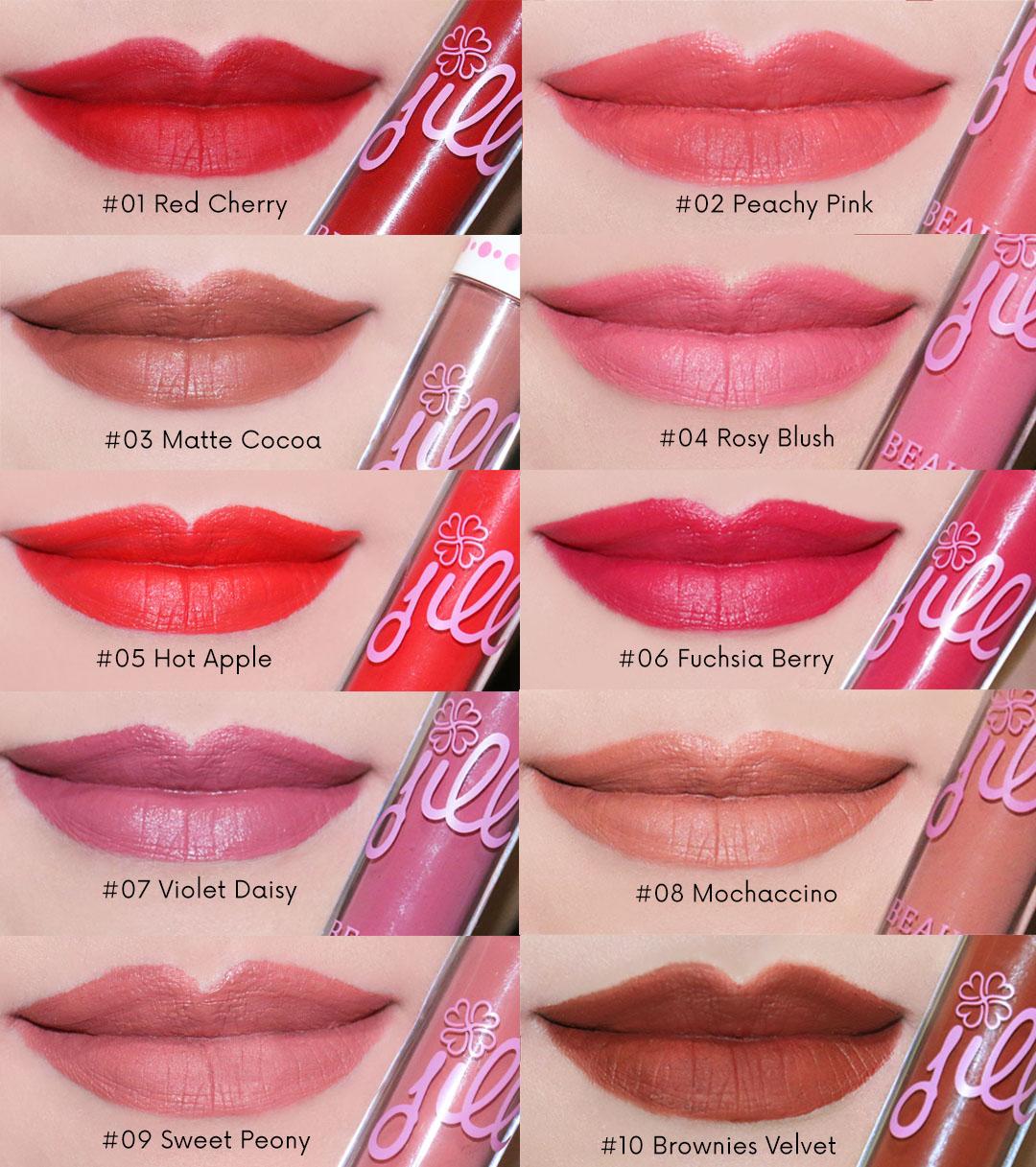 Jill Beauty Lip Cream Matte Lokal Yang Murah Dan Bagus