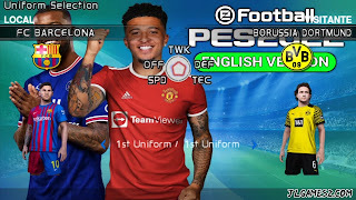 PES 2022 PPSSPP ANDROID ATUALIZADOS