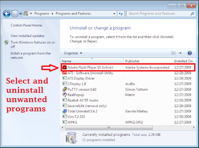 Uninstall Get.streamssearch.com From Windows 7