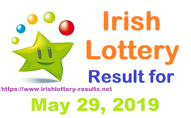 Irish Lottery Result for Wednesday, May 29, 2019