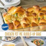 Chicken Pot Pie Bubble-Up Bake