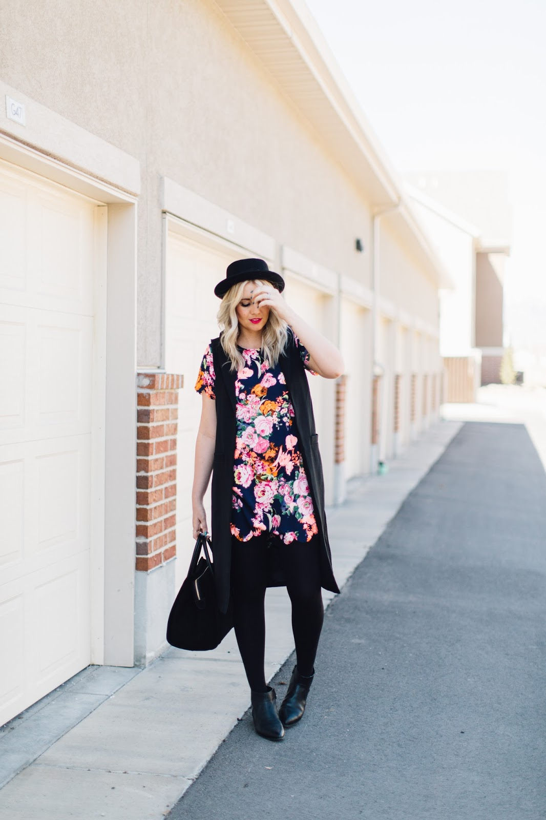 Floral Dress, Scalloped Dress, Utah Fashion Blogger