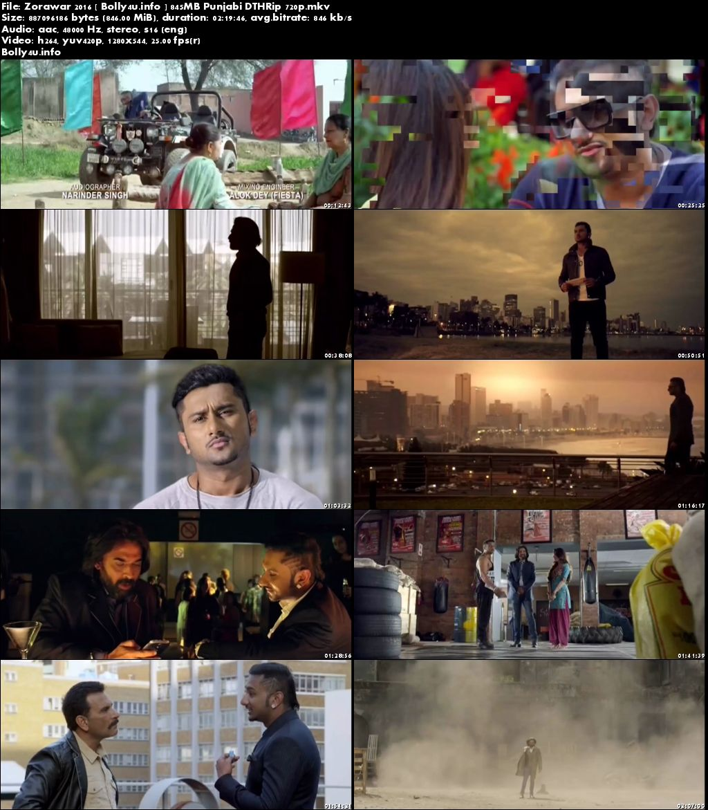Screen Shoots of Watch Online Zorawar 2016 DTHRip 850Mb Punjabi Movie 720p Free Download Bolly4u.info