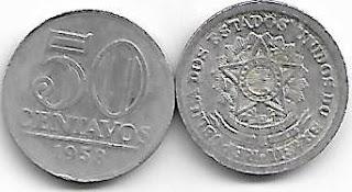 50 centavos, 1958