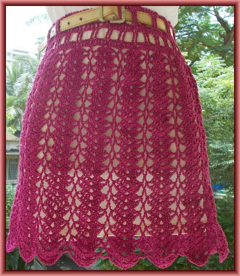 free crochet skirt pattern