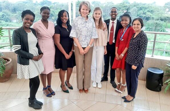 Queen Mathilde and Crown Princess Elisabeth met with Kenyan visual artist Cynthia Nyongesa and Maasai community