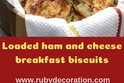 Loaded ham and cheese breakfast biscuits