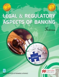 3rd Paper of JAIIB is Legal and Regulatory Aspects of Banking (18th November 2018)