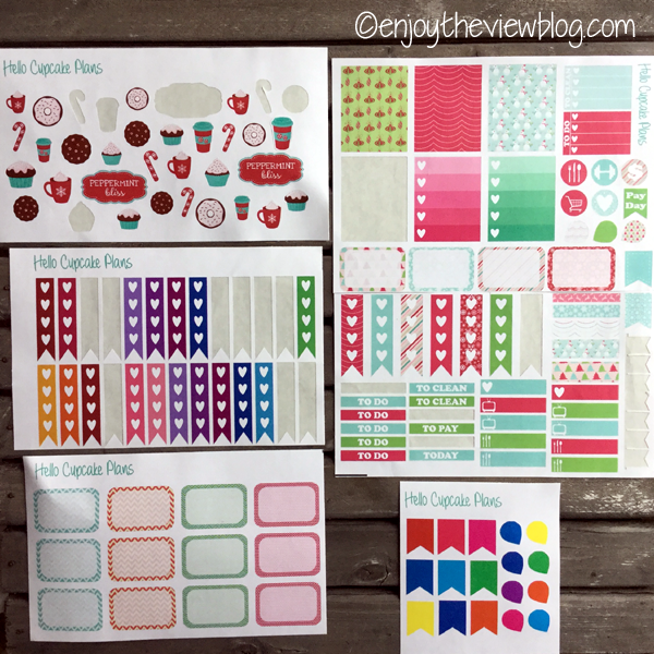 planner stickers from Hello Cupcake Plans