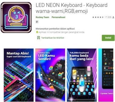 LED NEON Keyboard