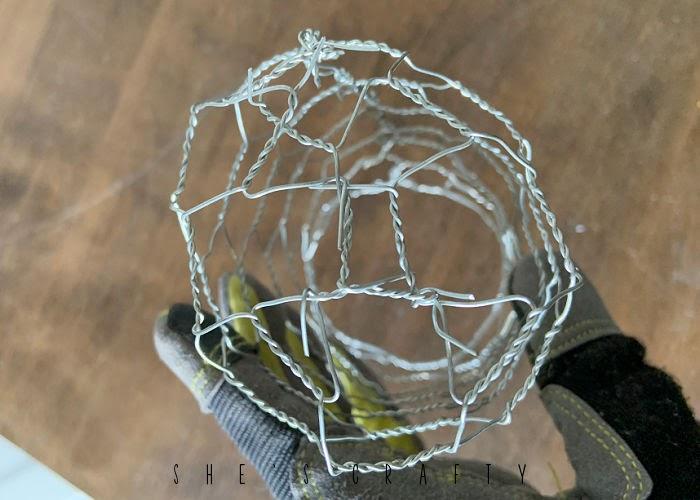 chicken wire cloche - domed top