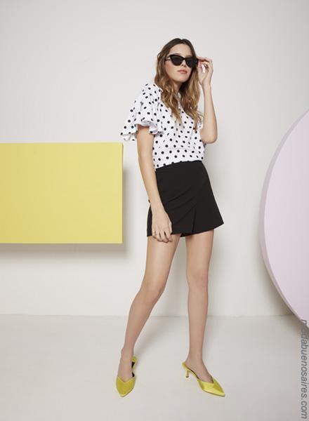 Moda primavera verano 2019 │Ropa de moda blusas, faldas y shorts priamvera verano 2019.