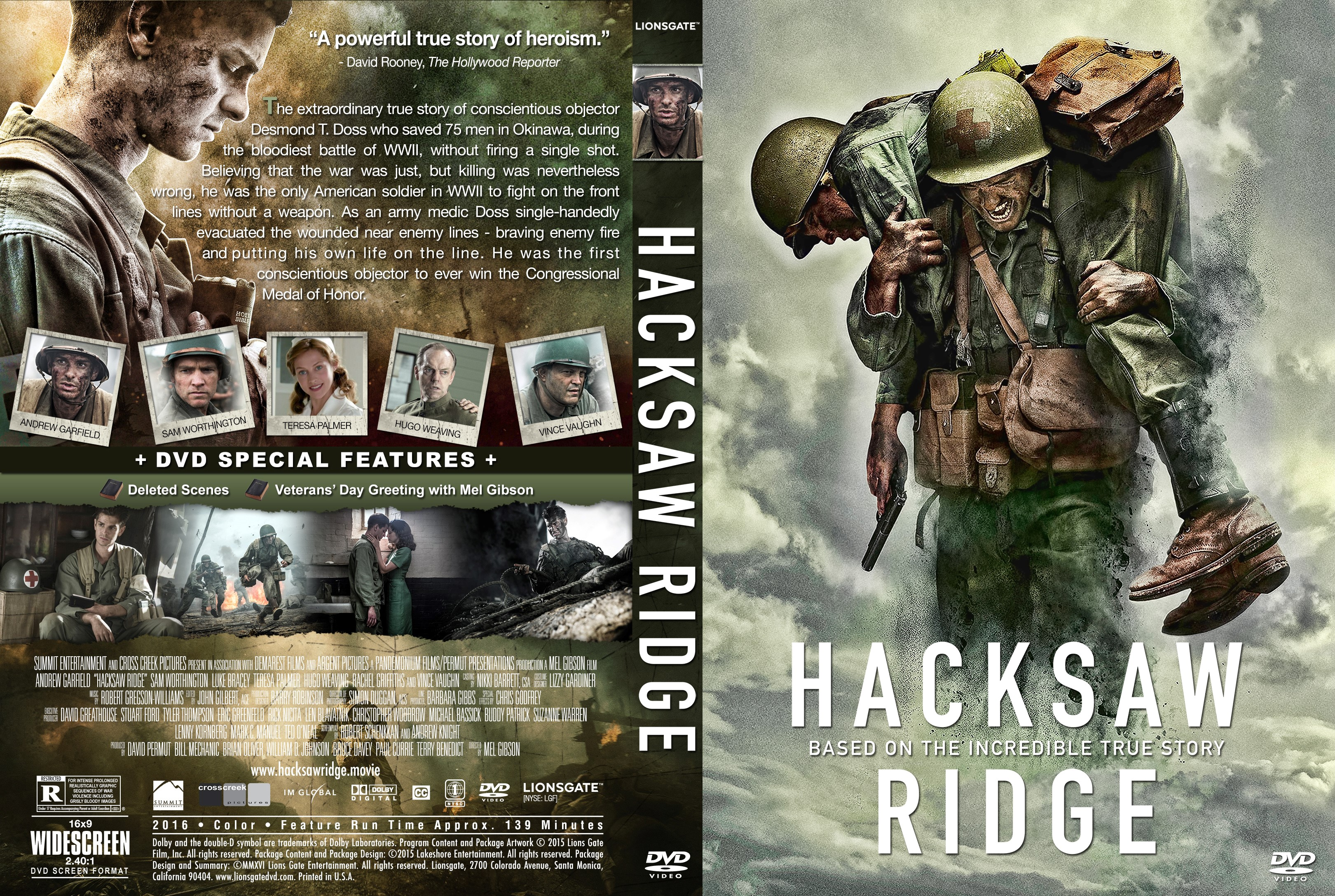 Hacksaw Ridge DVD Cover | Cover Addict - Free DVD, Bluray ...