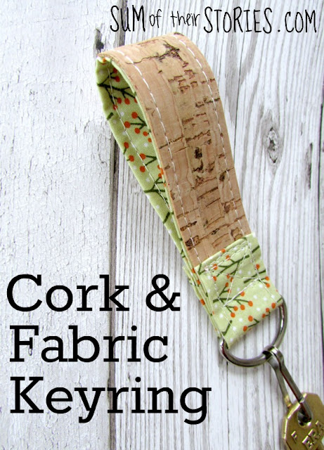 Cork and fabric Keyring