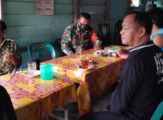 Jalin Silaturahmi, Personel Jajaran Kodim 0207/Simalungun Laksanakan Komunikasi Sosial Bersama Perangkat Lurah
