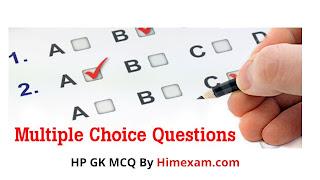 HP GK MCQ PART -1
