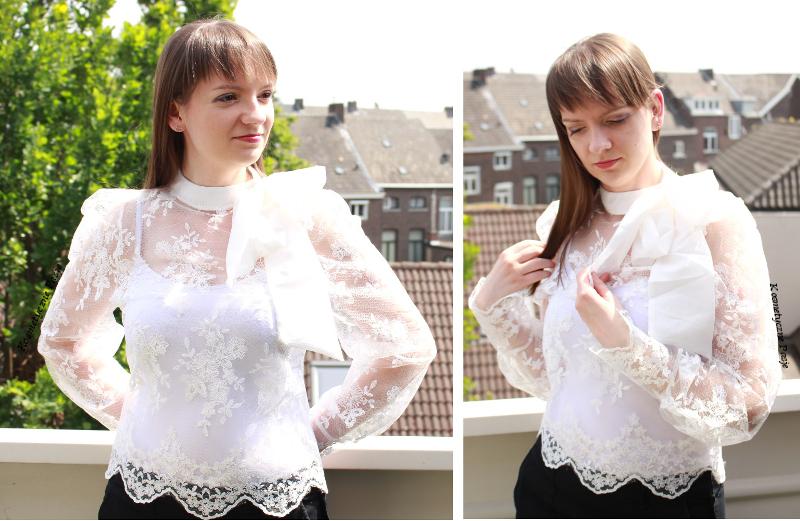 biała koronkowa bluzka femme luxe