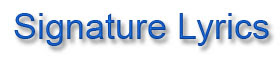 official website of 'SignatureLyrics'
