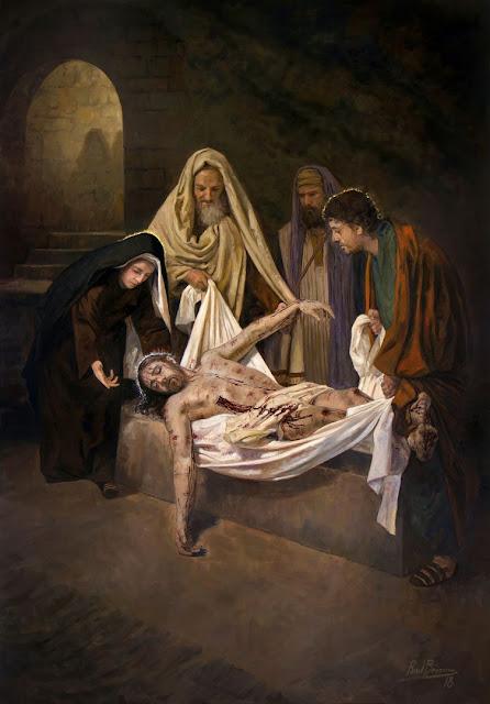 XIV Estação da Via-Sacra - Jesus é sepultado