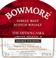 Bowmore The Devil's Casks III front label