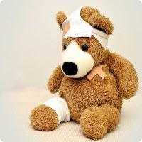 Wound healing image injured teddy