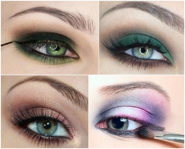 Schminktipps je nach der Augenfarbe