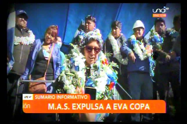Regional del MAS en El Alto expulsa a Eva Copa