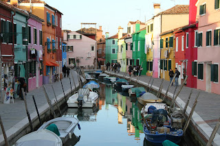 artists retreat of Burano, an island near Venice, Italy