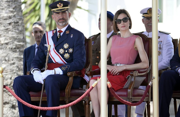 King Felipe and Queen Letizia attend the delivery of actual employment office at General Air Force Academy