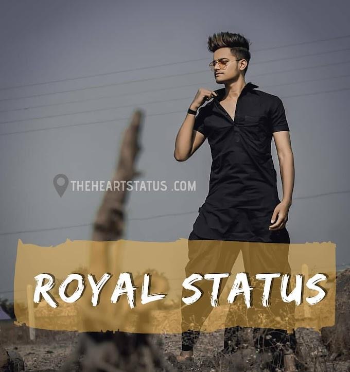 Royal status in hindi | best 500+ attitude royal status in hindi