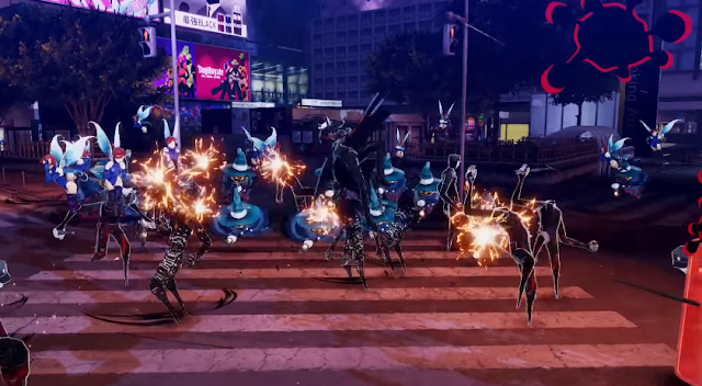 Persona 5 Scramble Joker musou wave of enemies