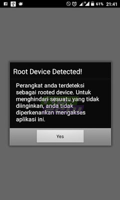 cara mengatasi root device detected bni | mobile banking bni rooted device