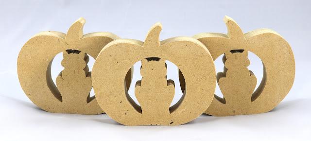 Handmade Halloween Jack-O-Lantern Cat Cutout