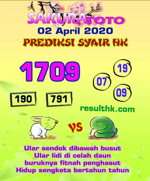 Prediksi HK Malam Ini Kamis 02 April 2020 - Prediksi Sakura Toto
